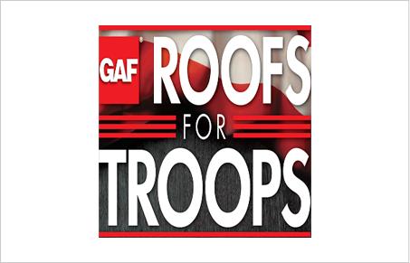 GAF ROOFS FOR TROOPS